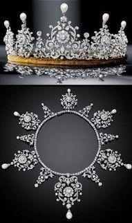 Antique Diamond Tiara and Collarette