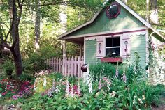 Have we gotten lost in a Brothers Grimm tale, you ask? Well, it certainly looks that way, but this is actually a playhouse that was turned into shed, with the help of a bunch of recycled materials. And it's not in an enchanted forest somewhere—it's actually in North Carolina.   - CountryLiving.com