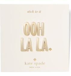 Customizing the favorite handbag, phone case or notebook with this set of gleaming 14-karat gold-plated letters by Kate Spade that adds a dash of signature sophistication.