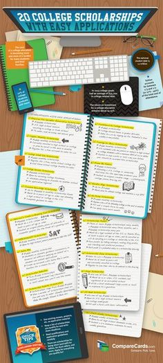 20 College Scholarships Infographic - http://elearninginfographics.com/20-college-scholarships-infographic/