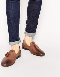 6dd330d7ab1 ASOS Tassel Loafers in Leather at asos.com