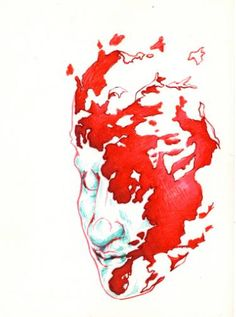 "Saatchi Art Artist TRIANTAFYLIA VASSOU; Drawing, ""Head Floating"" #art"