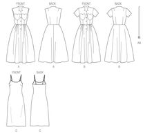 398 best patterns to purchase images clothes patterns clothing Dirndl Bow retro butterick b5920 misses dress belt and slip pattern drafting dress sewing
