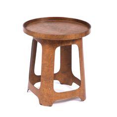 Lot 86 - Marcel Breuer (1902-1981) for Isokon Laminated plywood table/stool, circa 1930s detachable top