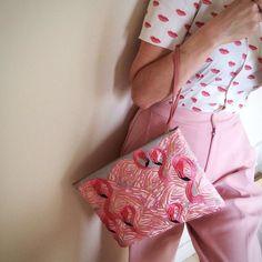 My muse & inspiration @roseelavy pairing Prada & Sophia 203 💕 #embroidery#sophia203