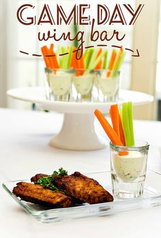Game Day Wing Bar with homemade ranch dressing recipe!   #ChooseSmart #ad