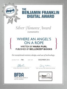 """Where an Angel's On a Rope - Benjamin Franklin Digital Award Silver Winner - Short STory 2016. So Cal Book Festival awarded Milford-Haven Holiday Stories #1 """"Where an Angel's On a Rope"""" by Mara Purl"""