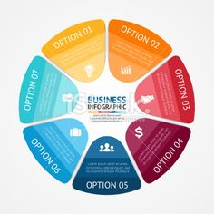 Business circle infographic, diagram 7 options Royalty Free Stock Vector Art…