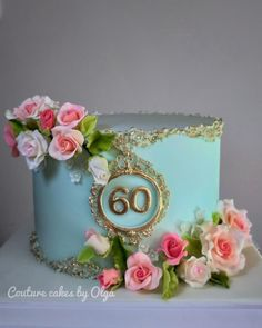 Birthday Cake Designs For Her Birthday Cake For Women Elegant, Elegant Birthday Cakes, Birthday Cakes For Women, Birthday Cake Girls, Female Birthday Cakes, Torta Baby Shower, Bolo Floral, Floral Cake, Pretty Cakes
