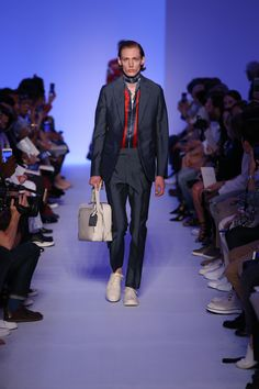 A look from the Louis Vuitton Men's Spring 2016 Fashion Show from Artistic Director of Men's Collections Kim Jones. Click through to watch the show now. Photo credit Ludwig Bonnet