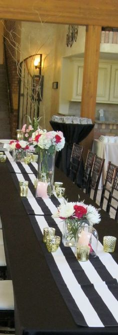 Black tablecloths or white?
