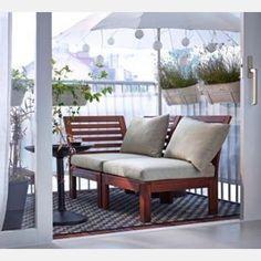 Vendo sofá exterior, marrón, beige IKEA ÄPPLARÖ / HÅLLÖ, segunda mano