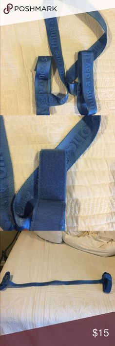 Lululemon Mat Strap In like new condition! Blue yoga mat strap with Velcro! Open to reasonable offers through feature! lululemon athletica Other