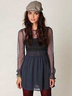 Vintage Lace Long Sleeve Dress