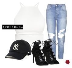 """""""io"""" by ivorionda ❤ liked on Polyvore featuring Topshop, Office and NIKE"""