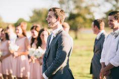 love this groom watching his bride walk down the aisle! | Jess Barfield #wedding