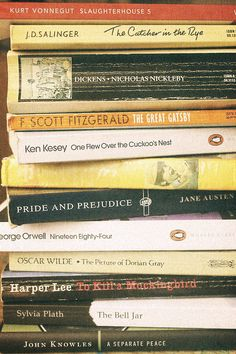 Books you probably read in your high school English class, but should totally read again in college.