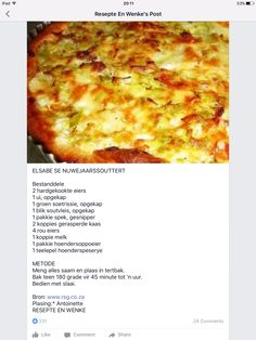 Savory Snacks, Savoury Dishes, Savoury Tarts, Food Dishes, Quiche Recipes, Tart Recipes, Braai Recipes, Cooking Recipes, Cooking Measurements