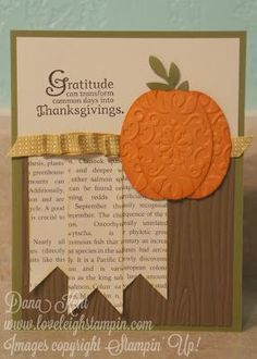 Stampin Up Thanksgiving Cards | Stampin' Up! Thanksgiving Punch Art Card | Papercraft