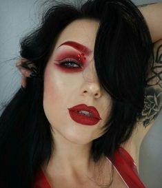 #creativemakeup #creative #makeup #butterfly Devil Makeup, Goth Makeup, Kiss Makeup, Beauty Makeup, Eye Makeup, Hair Makeup, Devil Halloween, Cool Halloween Makeup, Pretty Halloween