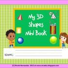 3D shapes Mini Book for Kindergarten and Grade 1
