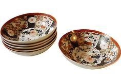 Adeeni Design Group: Set of 6 Imari Bowls