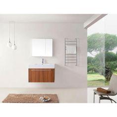 Midori 35 3 16 in single basin vanity in plum with poly marble vanity