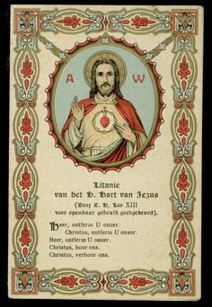 old holy card chromo**SACRED HEART OF JESUS 19