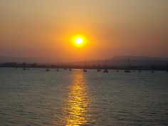 Syracuse, Sicily. Beautiful sunset looking across the harbour!