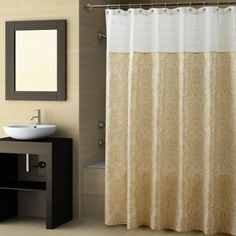 Add a graceful elegance to your bathroom with the Croscill Sabrina shower curtain #croscill #homedecor #showercurtain