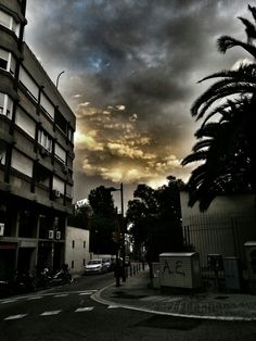 Clouds in # Barcelona
