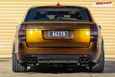 From barking exhaust to insane paint, this Holden VE SS-V wagon is hard to miss Holden Wagon, Aussie Muscle Cars, Reliable Cars, Big Wheel, Brake Calipers, Car Detailing, Hot Cars, We The People, Wheels