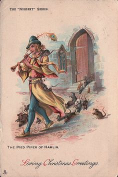 Tuck Nursery Series Pied Piper of Hamlin Pipes Rats Out of Town 8122 | eBay