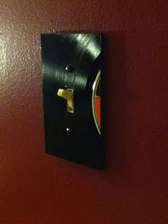 Record light switch plate