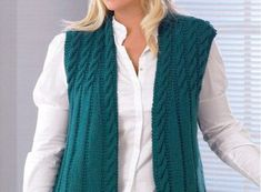 29 ideas knitting vest pattern scarfs for 2019 Girls Sweaters, Cardigans For Women, Baby Boy Knitting Patterns Free, Knit Vest Pattern, Madame, Knit Cardigan, Knitted Hats, Knitwear, Vests