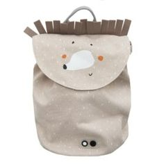 Mini Cotton Mrs Hedgehog Backpack by Trixie. Cotton with water-repellent