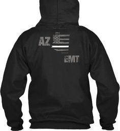 Arizona EMT Thin White Line Hoodie  Wear your AZ EMT and EMS pride and show your support for the Arizona Thin White Line.  - Official Thin Line Style Apparel, printed in The USA - 50% Cotton, 50% Polyester - Double-needle stitching for durability, double-lined hood, pill-resistant air jet yarn - Machine Wash Warm, Tumble Dry Low. Do not bleach.