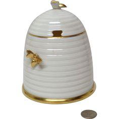Blackinton Sterling Silver Amp Crystal Honey Pot Amp Spoon