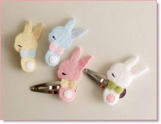 Bunny Barrette and Brooch plus Sweet Animal Barrette Tutorials
