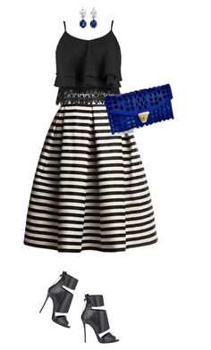 """Stripes #fashion"" by ashley-loves ❤ liked on Polyvore featuring Rumour London, Giuseppe Zanotti, Boohoo and Venus"