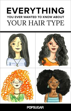 Everything You Ever Wanted to Know About Your Hair Type. love the artwork.