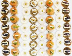 #Canapé: #Rockford and Walnuts- #Salmon – Brie with figs – #Turkey & #cheese. #food #catering #kitchen
