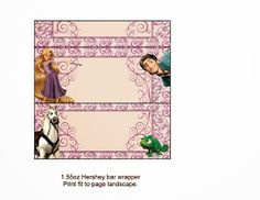 Tangled (Rapunzel) Free Printable Chocolate Labels.