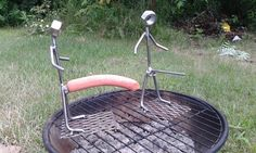 Hot dog cooker anatomically correct bbq grill hot dog griller cooking tools man shaped wiener roaster for grilling by WonderlandWelding on Etsy