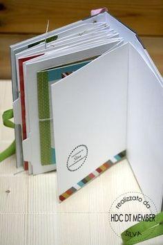Idée de mini jolies décorations...: http://hobby-di-carta.blogspot.it/2013/07/mini-album-n-come-nicoletta-by-silva.html