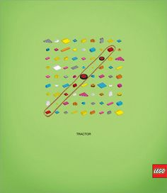 A Lego version of a word find. Lego buffs this is for you! Clever Advertising, Advertising Poster, Advertising Design, Advertising Campaign, Advertising Space, Street Marketing, Lego Tractor, Lego Words, Funny Commercials