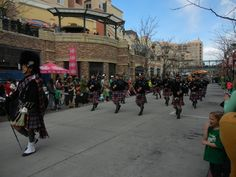 Saint Patrick's Day Parade in Salt Lake City, Utah 3/12/2016 White Peaks Centennial Pipe Band~