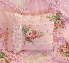 Baby Rag Quilts: Pink Roses Baby Girl Rag Quilt