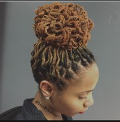 Loc maintenance, curls, updo by StyleSeat Pro, Locs By Lo Dreadlock Styles, Dreads Styles, Curly Hair Styles, Dreadlock Hairstyles, African Hairstyles, Braided Hairstyles, Wedding Hairstyles, Pelo Natural, Natural Hair Care
