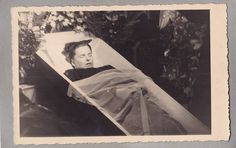 Vintage Photo - Young Woman In Coffin/Casket - Post Mortem - Funeral - Mourning